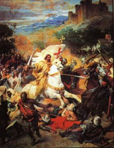 Saint James at the Battle of Clavijo (1885) by the Spanish painter José María Casado del Alisal (1832-1886)